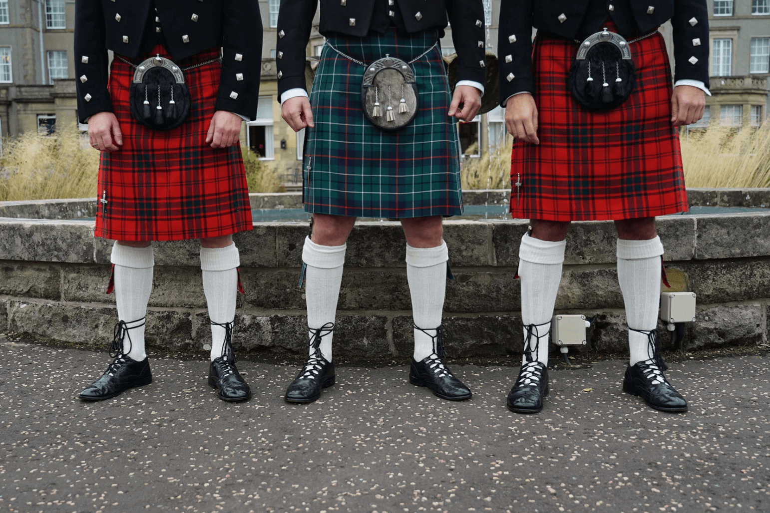 Scottish Men in Kilts'