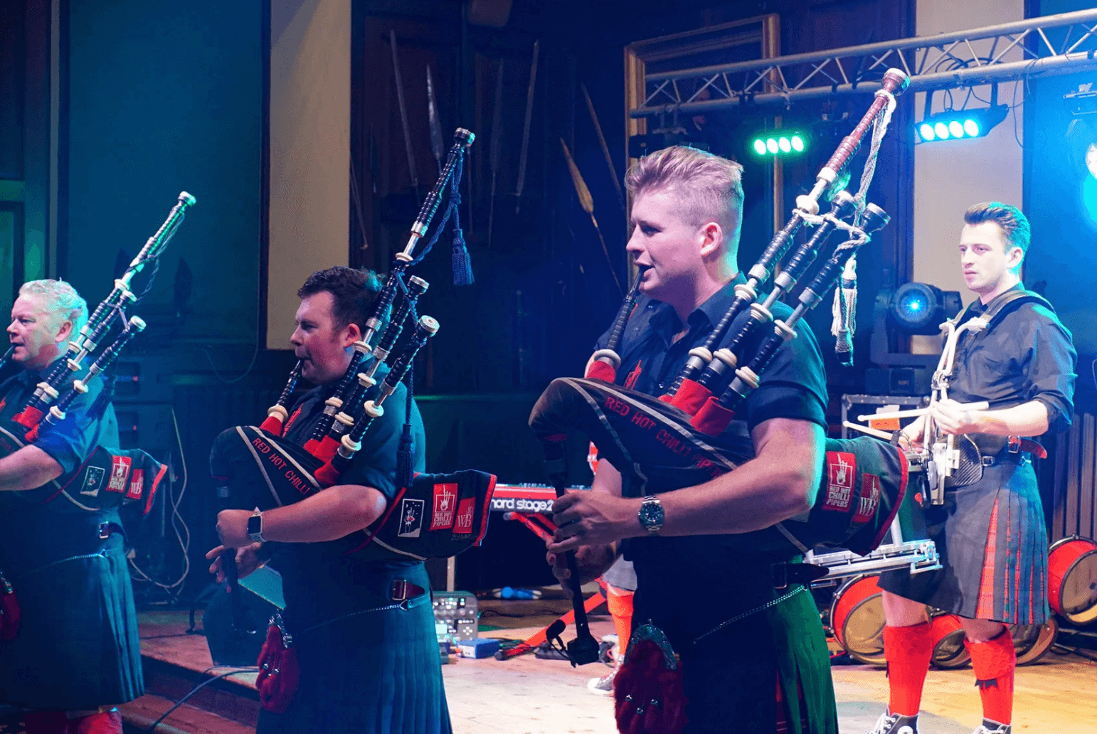 Men Playing Bagpipes'