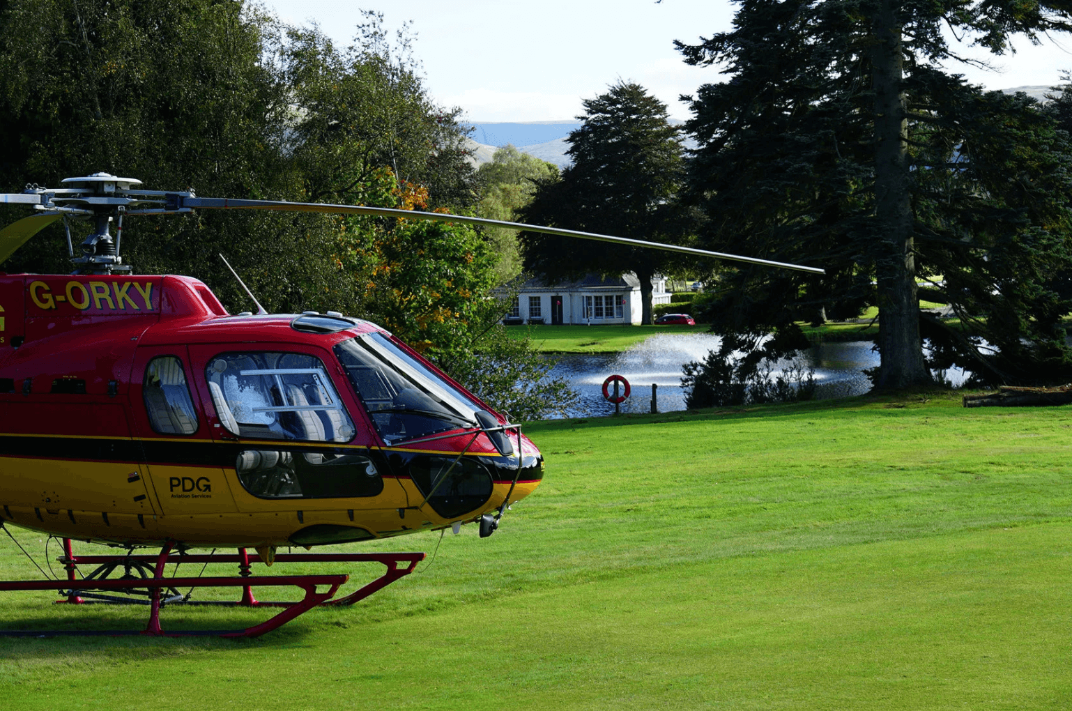 Helicopter on Lawn