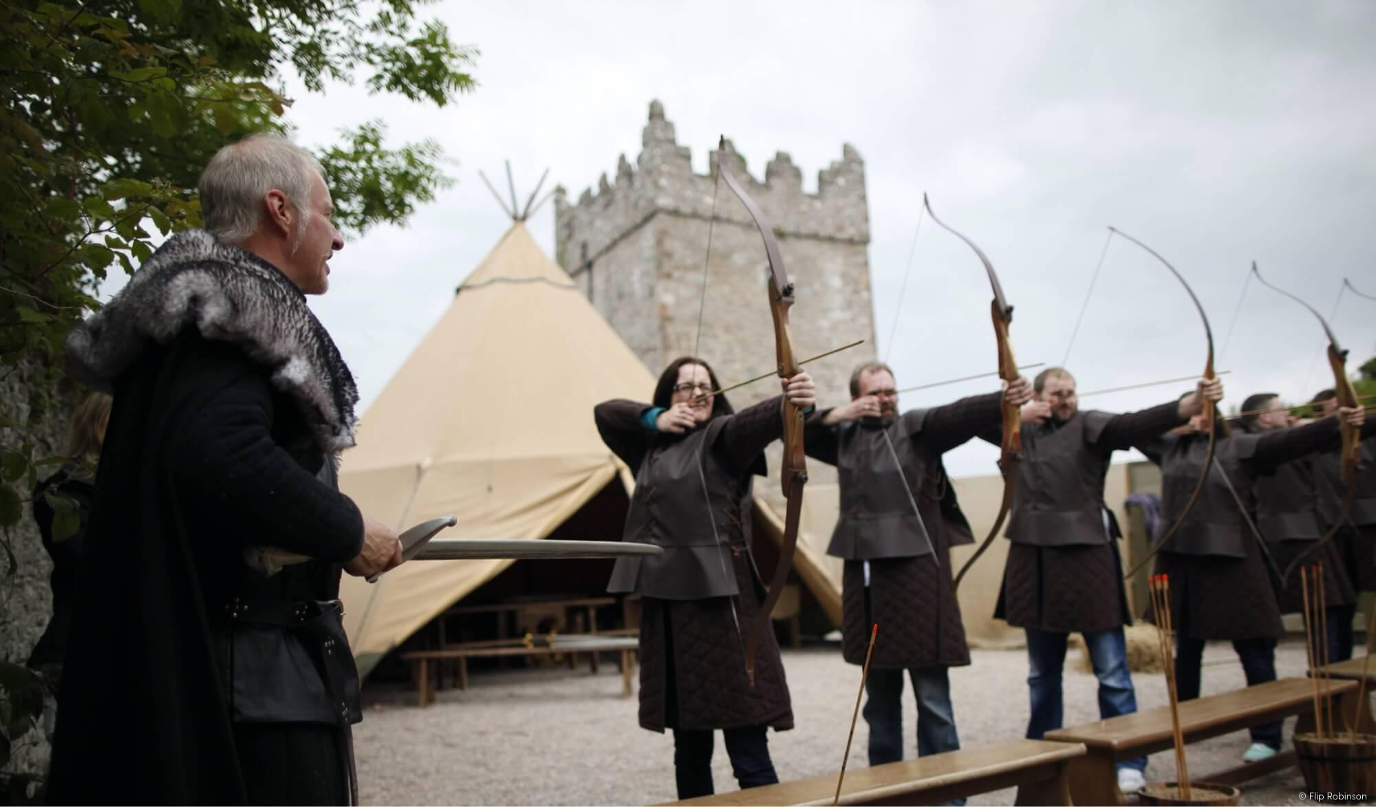 Medieval Bow & Arrow Practise'